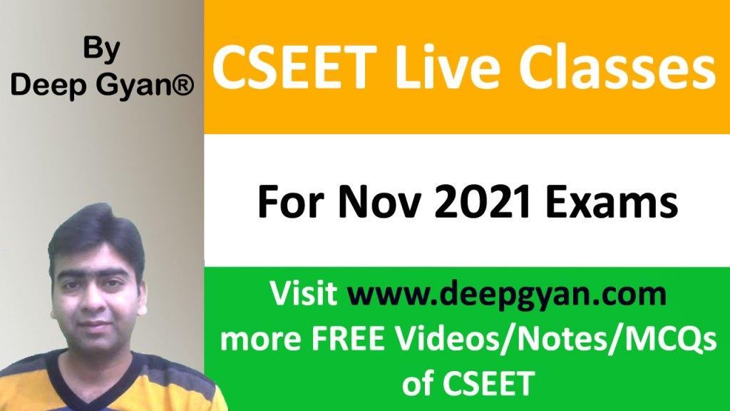 Free CSEET Online Classes for Nov 2021