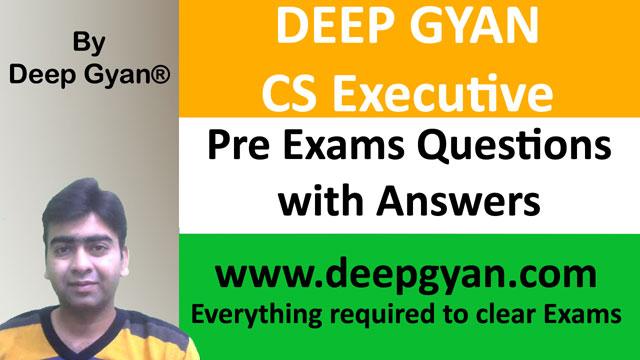 CS Executive Pre Exams