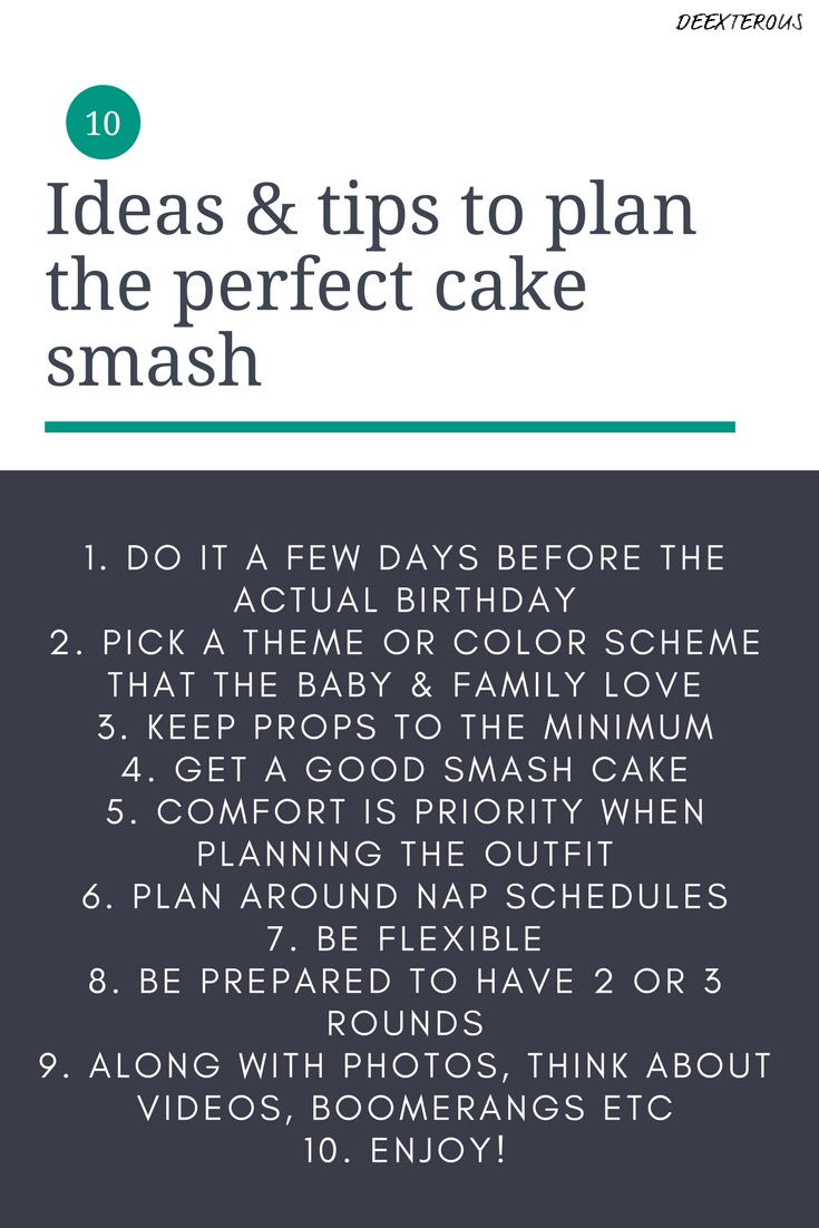 10 ideas & tips to plan the perfect cake smash