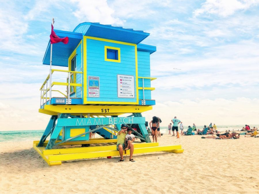 Beach vacation with kids in Miami, South Florida