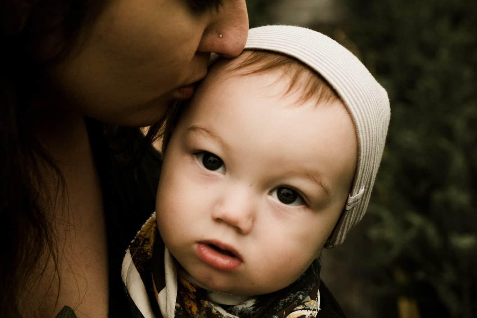 Child kiss