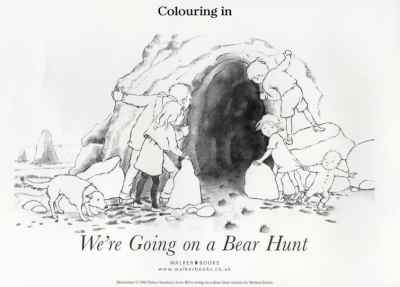 #BearHunt Colouring In Cave
