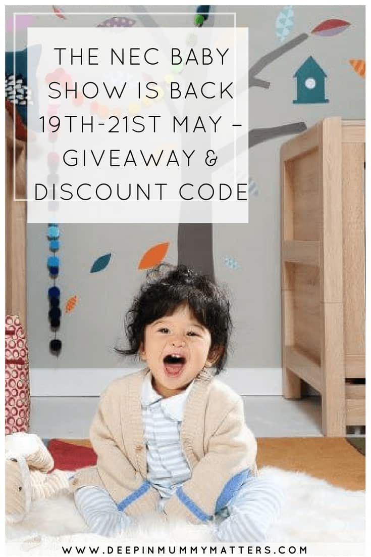 THE NEC BABY SHOW IS BACK 19TH-21ST MAY – GIVEAWAY & DISCOUNT CODE