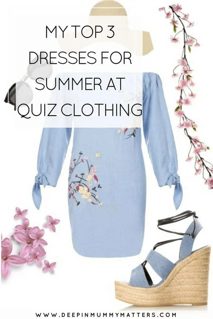 MY TOP 3 DRESSES FOR SUMMER AT QUIZ CLOTHING
