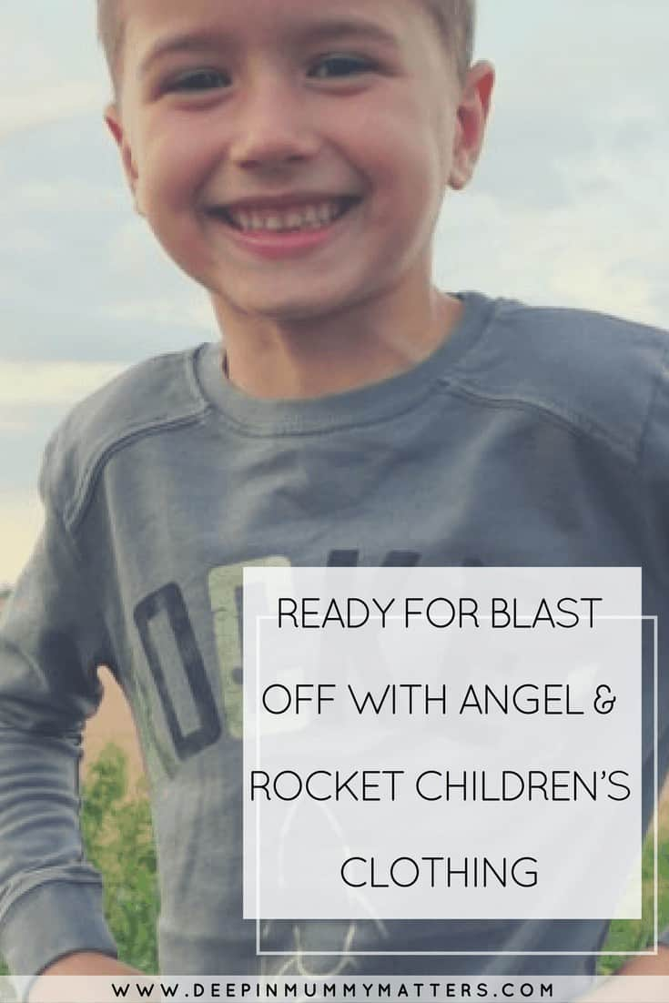 READY FOR BLAST OFF WITH ANGEL & ROCKET CHILDREN'S CLOTHING