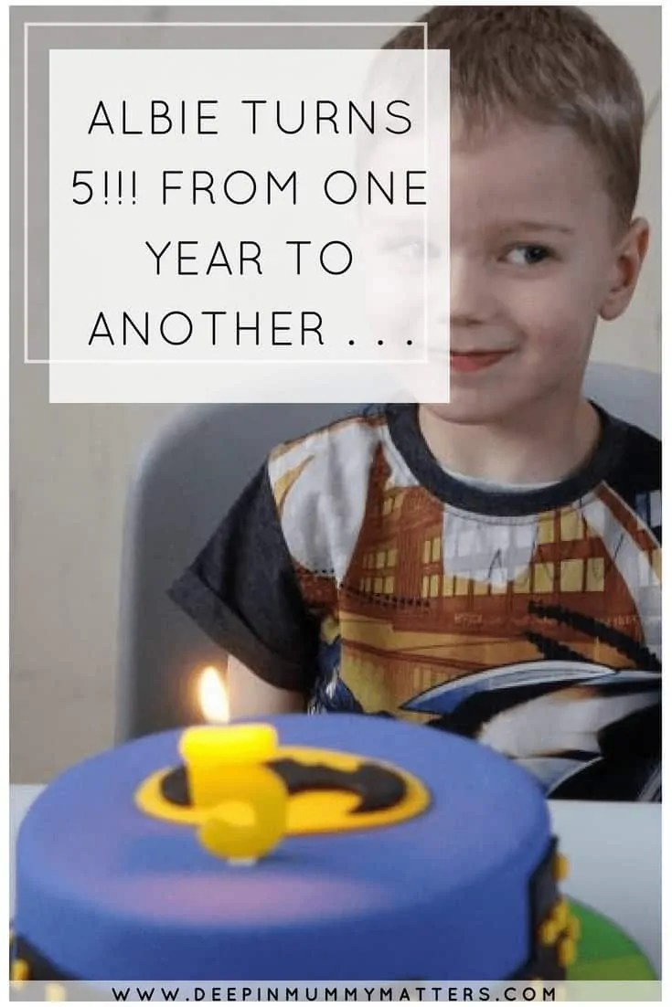 Albie turns 5!!! From one year to another . . .