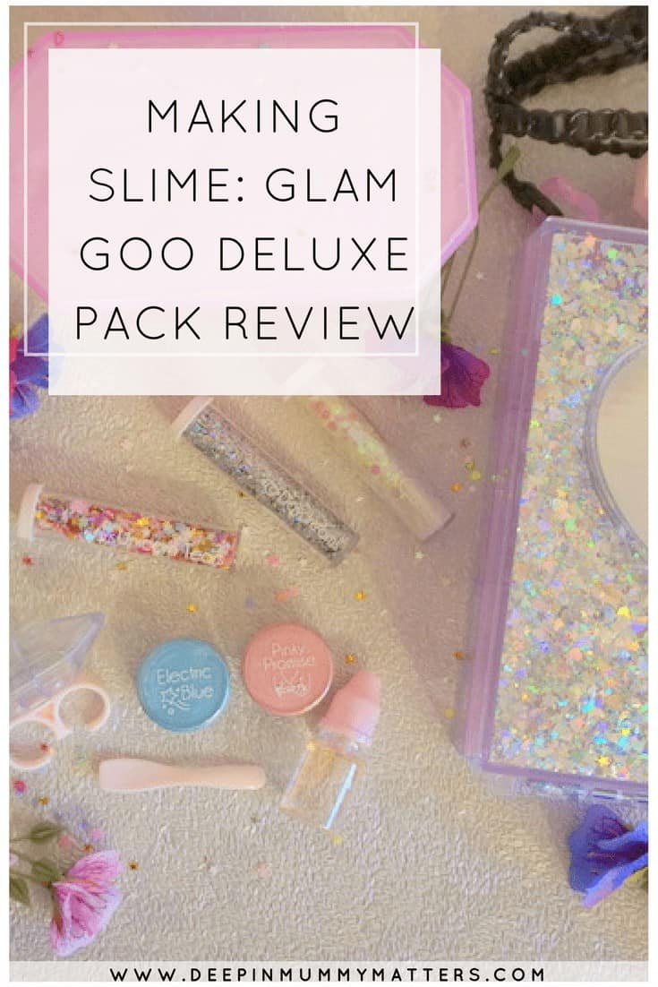 MAKING SLIME: GLAM GOO DELUXE PACK REVIEW
