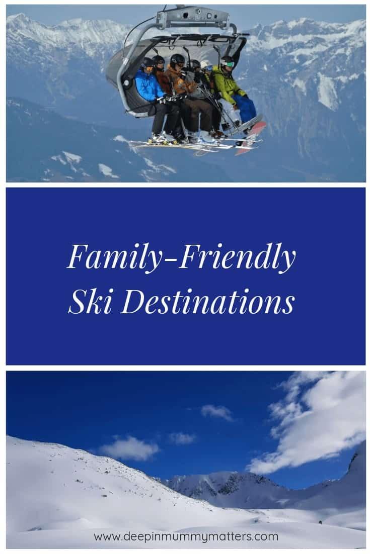 3 Family-Friendly Ski Destinations