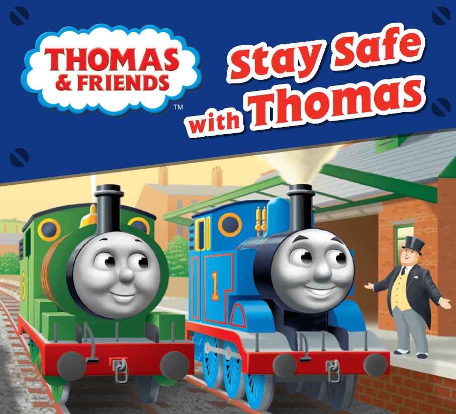 Stay safe with Thomas book front cover