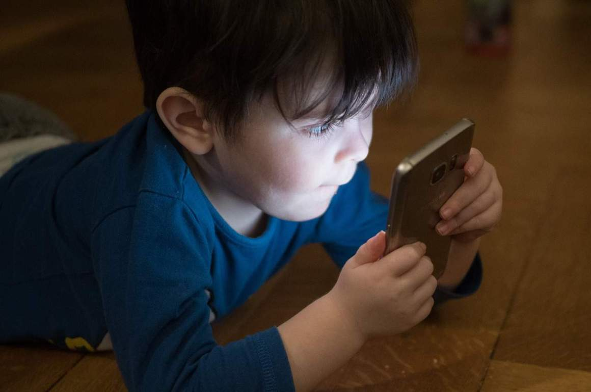 Child on mobile phone