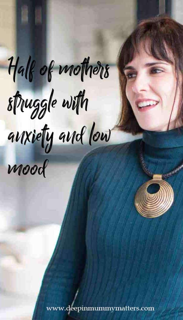 Half of all mothers suffer with anxiety and low mood