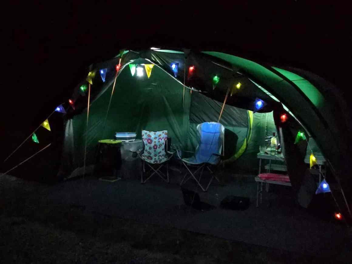 Solar Lights on Tent