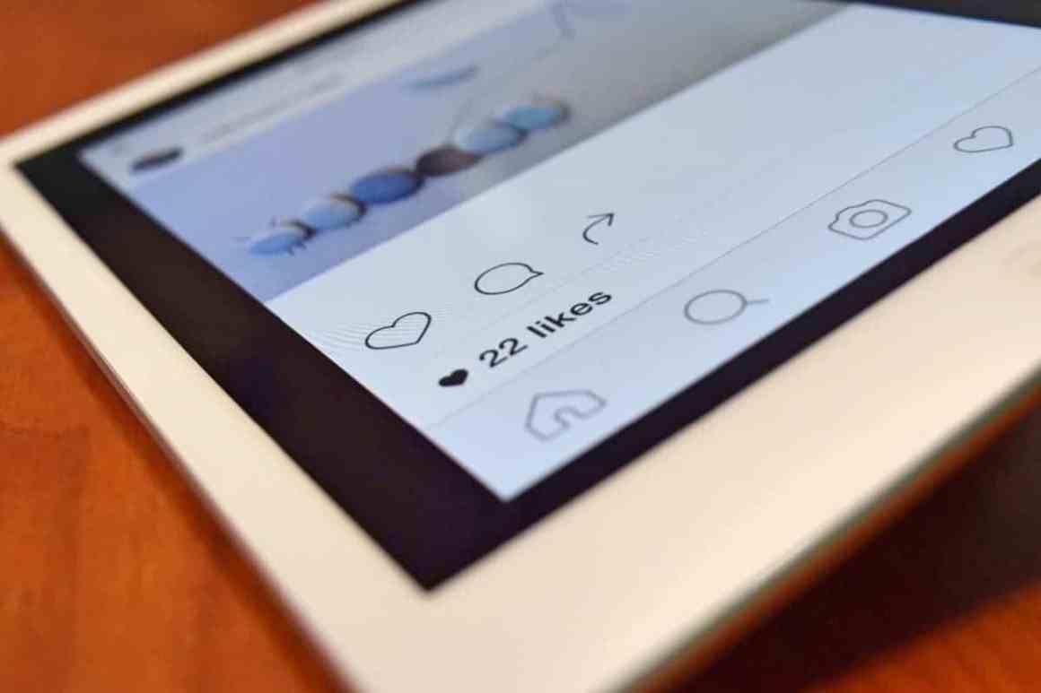 Instagram likes on mobile phone