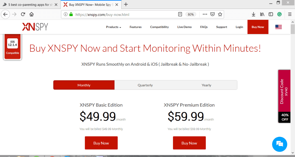 XNSPY Monthly Packages