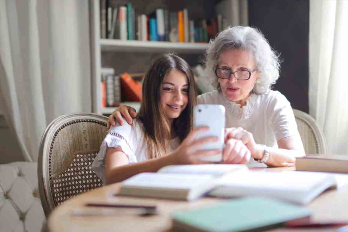 Elderly parents and grandparents