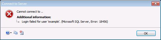 SQL Server login error 18456