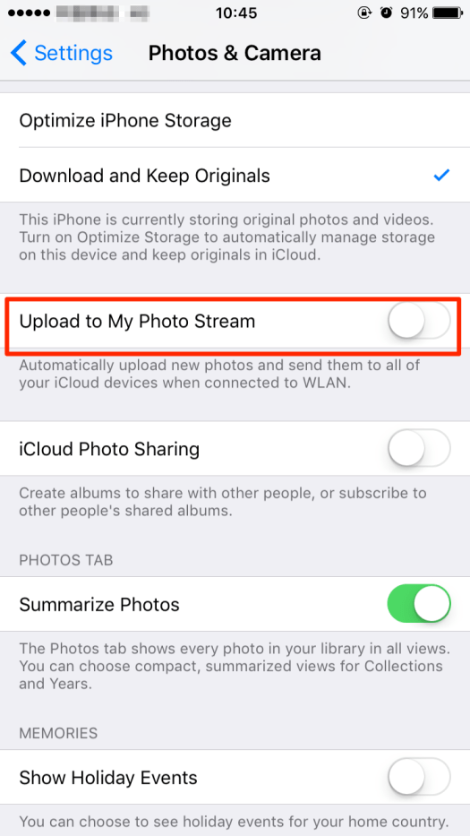 Upload to My Photo Stream in Settings. Image Credit: iMobie. https://imobie-resource.com/en/support/img/my-photo-stream-not-w.png