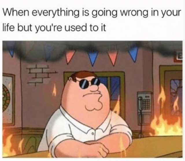 Peter Griffin is calm while the world burns around him