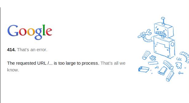 HTTP error 414