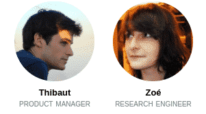 Thibaut and Zoé, interns at Deepomatic