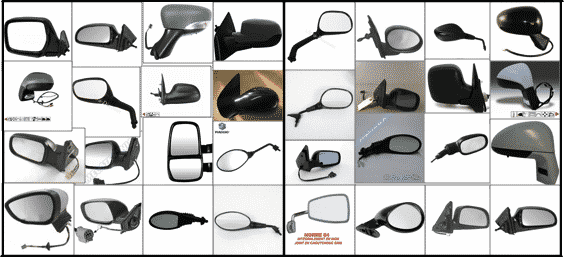 Classified images: left vs right rear-view mirrors.