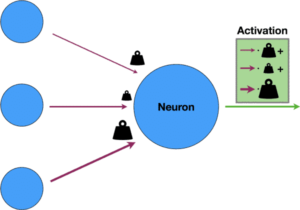 The working mechanism of a neural network.