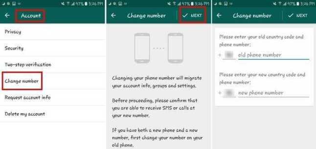 نقل دردشات WhatsApp عبر ميزة تغيير الحساب