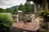 Overview of the outdoor kitchen