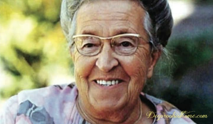 The Simple Yet Profound Wisdom of Corrie, Corrie ten Boom, Dutch, forgiveness, heartbreak, deliverance, death, grace, joy, thankfulness, strong, strength, biblical guidance, sound doctrine, wise, teacher, prison camp survivor, hid Jews during WWII, tramp for the Lord, old woman, concentration camp, Holocaust survivor, Christian, evangelist, books, ministry to Jewish people, Holland, Netherlands, Hiding Place, Haarlem,