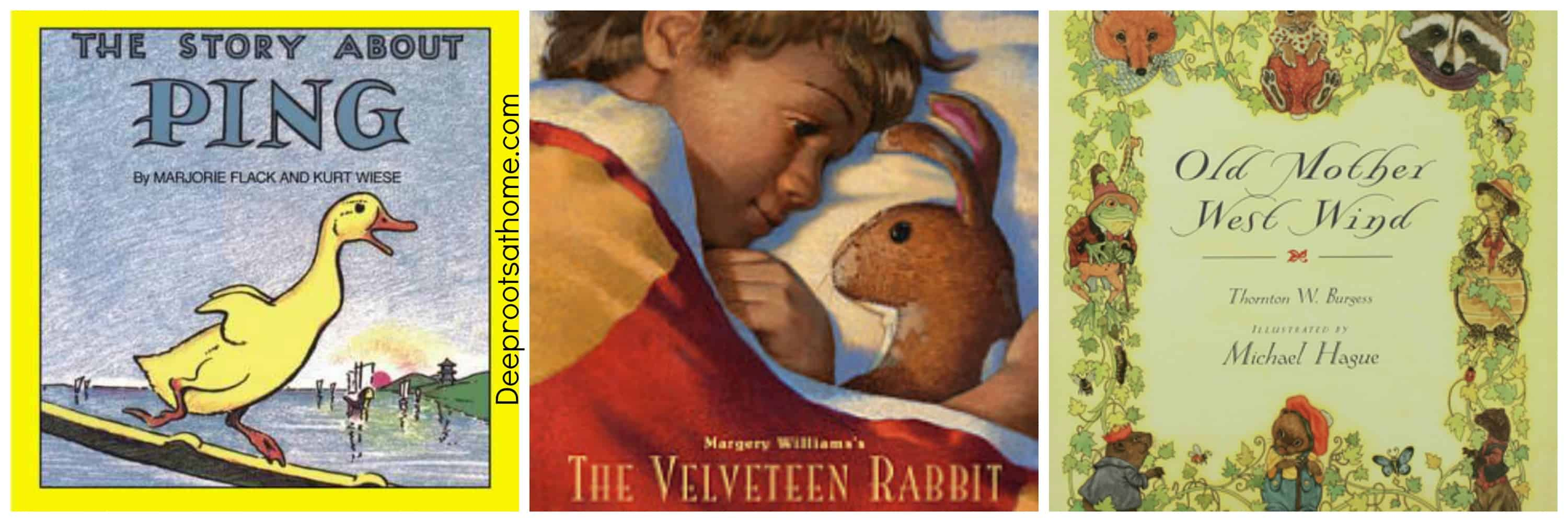 25 Beloved, Time-Tested Read Alouds For Young Children, Alfredo Rodriguez, father reading to his children, man reading, children listening, boys wearing hats, pioneer family, grandfather, boy holding lantern, reading the bible, on the porch, by candlelight, collie dog, painting, Holding the Light, artist, peaceful time, teaching his children, boys, girl, cabin, dusk, beloved books, wholesome reading, readers, The Story About Ping, The Velveteen Rabbit, Old Mother West Wind, Thornton Burgess, classics, beloved, time-tested books,
