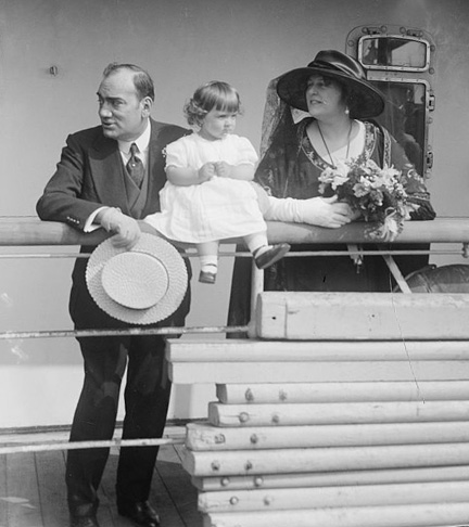 On May 28, 1921, an ailing Caruso sailed for Italy with wife Dorothy and daughter Gloria aboard the S.S. Presidente Wilson. He died in Naples on August 3, 1921. (Photo courtesy Library of Congress Prints and Photographs Division Washington, D.C. 20540 USA)