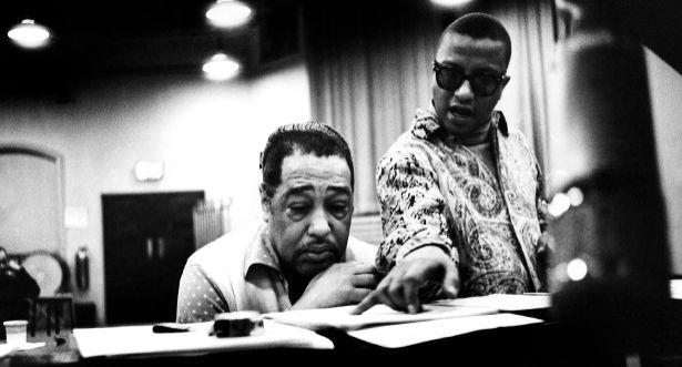 Duke Ellington and Billy Strayhorn in the studio