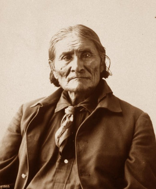 A portrait of Geronimo, 1913. Photograph by Adolph Muir.