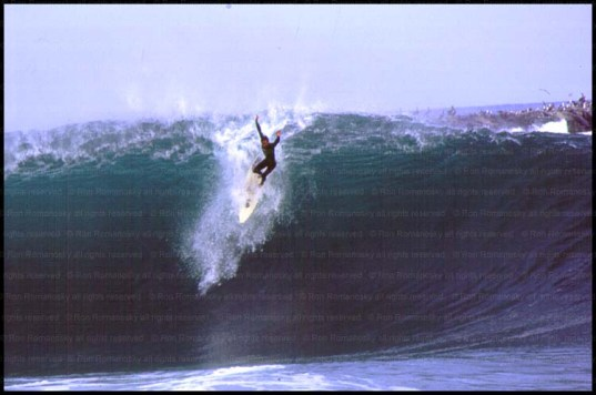 Riding the Wedge, the dirty old Wedge, in Newport Beach, CA