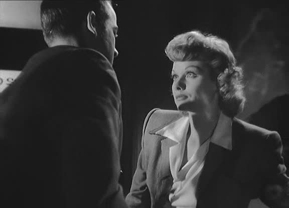 """Lucille Ball with Mark Stevens in The Dark Corner: director Henry Hathaway's bullying led Lucy to be """"vocal about hating the experience of shooting The Dark Corner.'"""