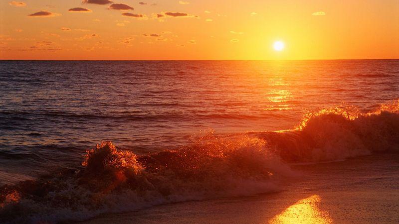 Pacific sunset, Pismo Beach, California