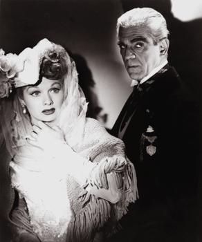 Lucy and Boris Karloff