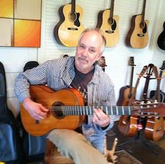 David Wood with the fare 1964 Gibson flamenco guitar he used on A Christmas Gift