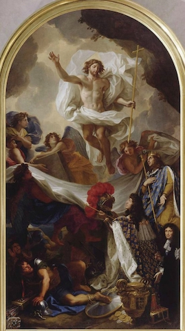 The Resurrection of Christ, oil on canvas by Charles Le Brun (1674-1676)
