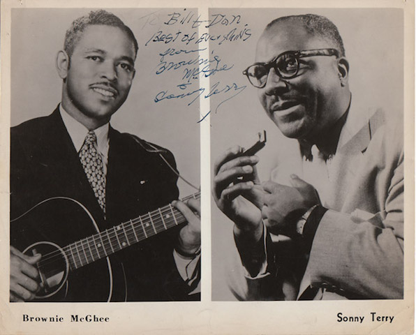An early promo shot of Brownie McGhee and Sonny Terry