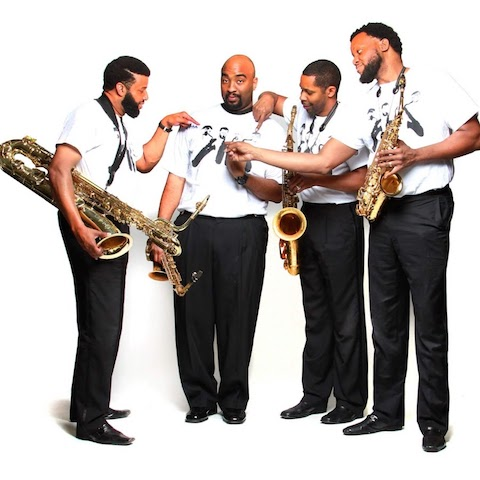 The New Vision Sax Ensemble (from left: Melton R. Mustafa, Dion Holloway, James Lockhart and Jason Hainsworth): Respecting melody but adding their je ne sais quoi to classic tunes