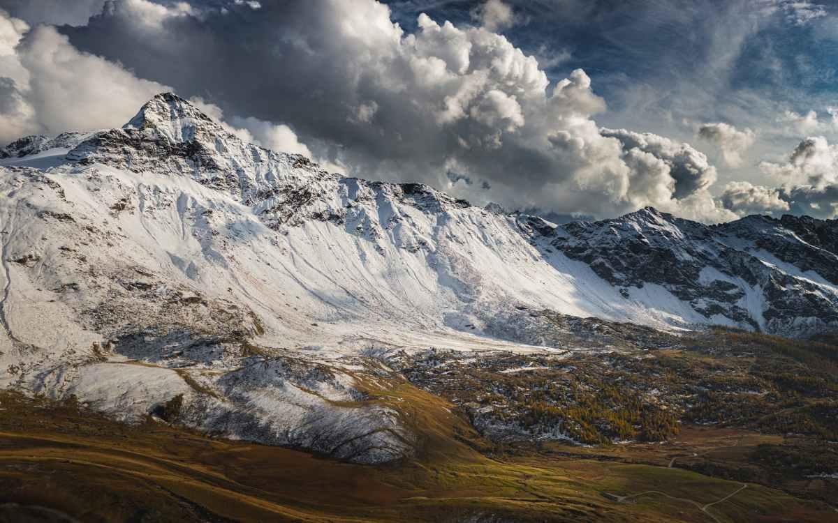 cold glacier snow landscape