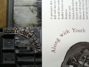 Detail of circular quads used in the type form for Along with Youth