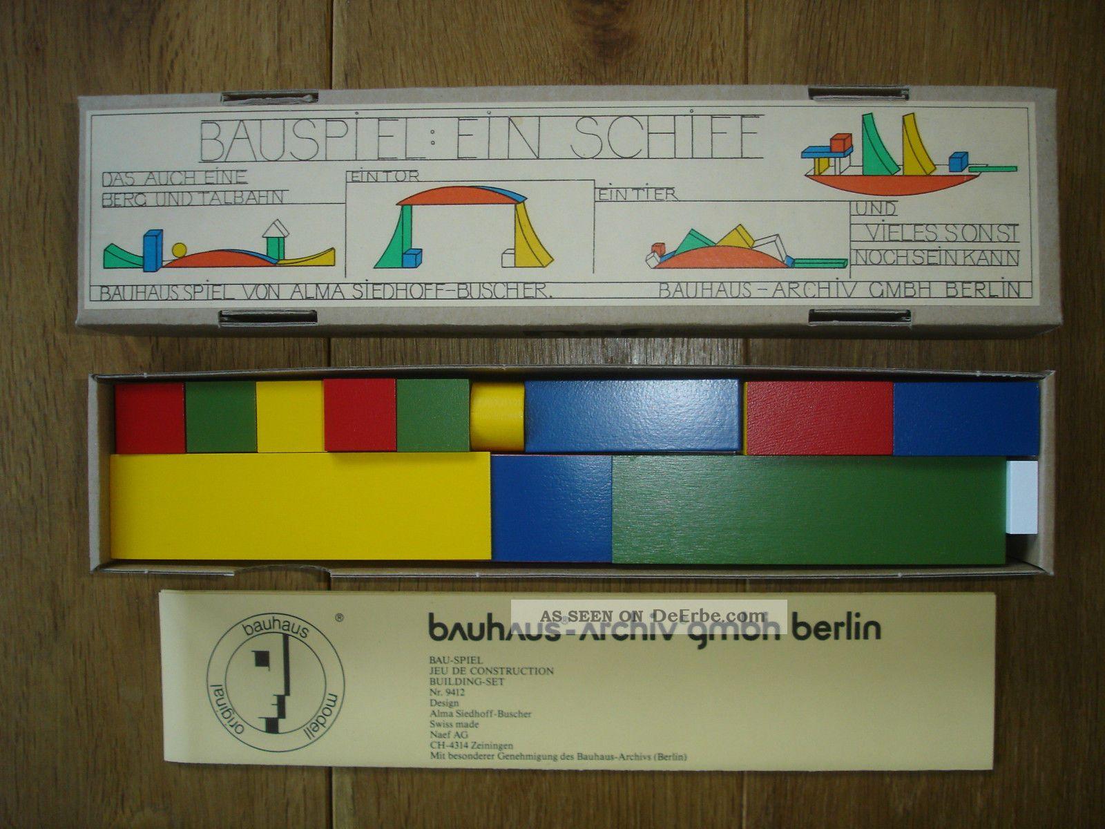 Naef Bauspiel Ein Schiff Bauhaus Design Alma Siedhoff