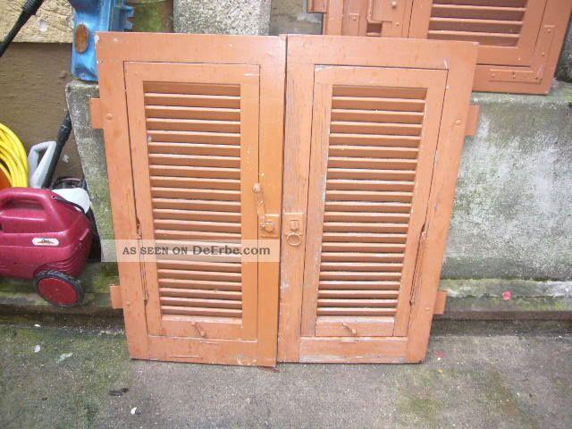 Alte Fensterläden Lamellenläden Vintage Shabby Chic 1 Paar