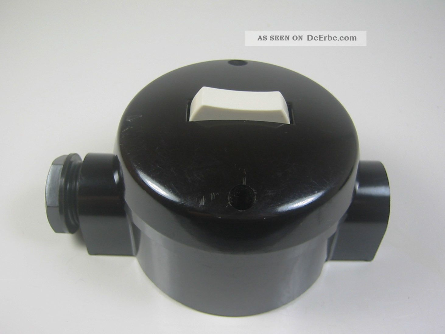 2 Schalter Bakelit Verteilerdose Drehschalter