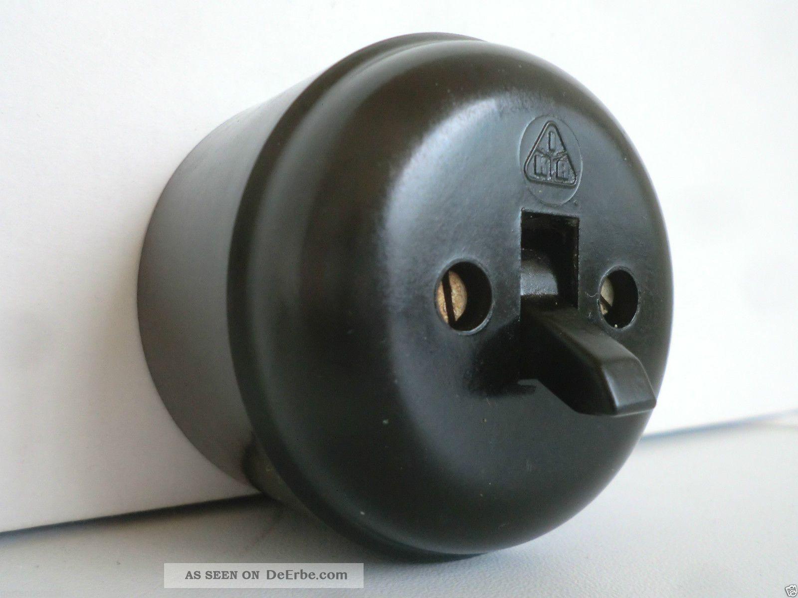 Historische Schalter Steckdosen Steckdose Lichtschalter