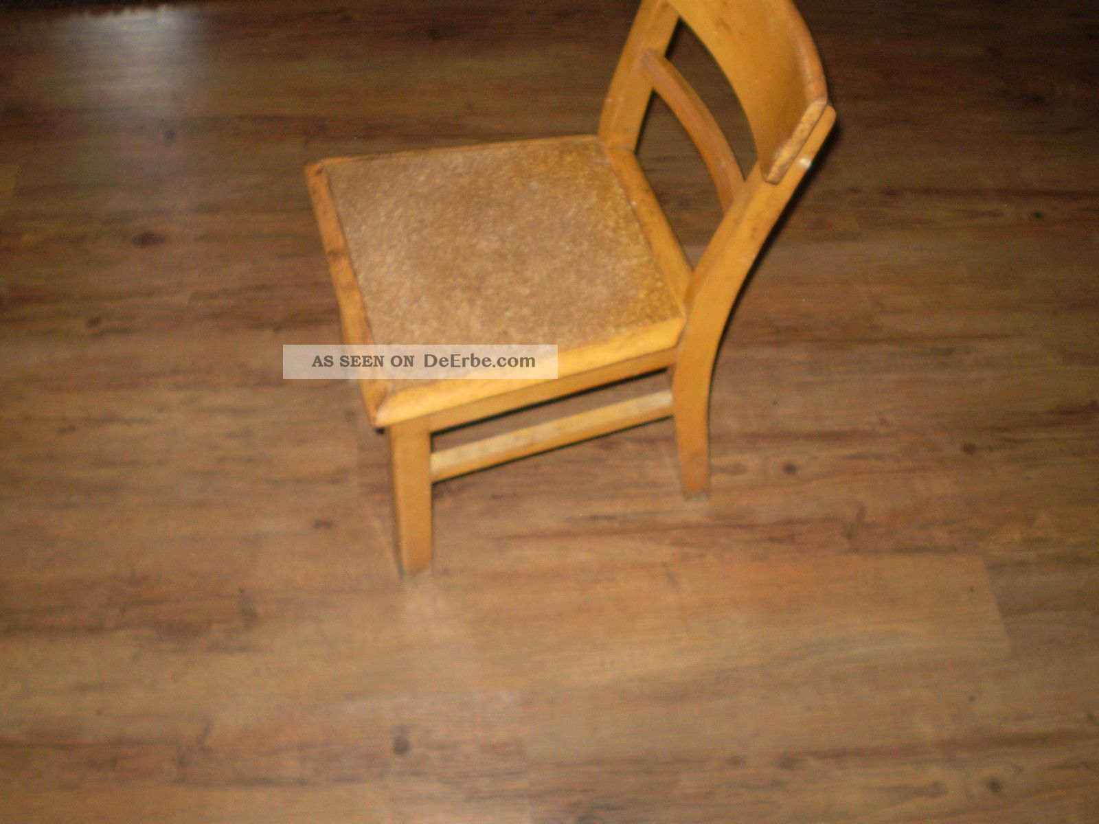 Antiker Kinderstuhl Kleiner Stuhl Holzstuhl 50er 60er Jahre