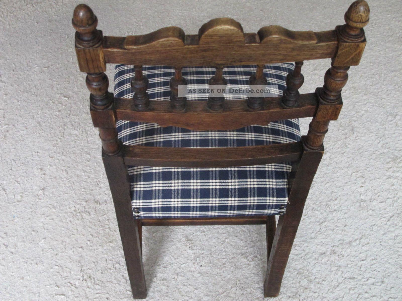 Stuhl Holzstuhl Polsterstuhl Eiche Grunderzeit Jugendstil