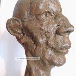 Alte Skulptur Plastik Buste Signiert Ton Gips Kopf Kunstler Unikat